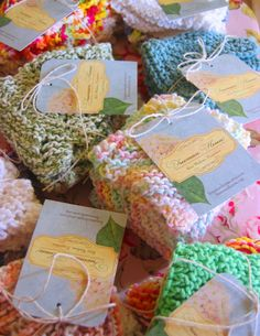 such sweet little knit wrapping!