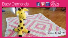 Corner to Corner Crochet pattern/ baby diamonds afghan pattern and video tutorial