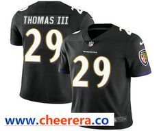 f6767351afa Men's Baltimore Ravens #29 Earl Thomas III Black 2017 Vapor Untouchable  Stitched NFL Nike Limited · Brandon WilliamsKeanu ...
