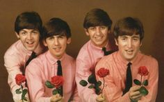 The Beatles in pink
