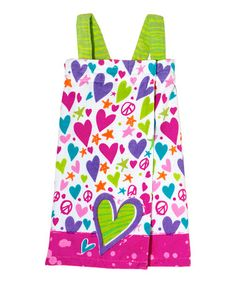 Take a look at this Fuchsia I'm All Heart Spa Wrap - Girls by Three Cheers for Girls on #zulily today!