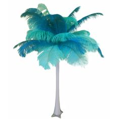 "Mint is in for 2013. This ""Teal and Mint"" ostrich feather centerpiece will leave your guests in awe. Only $44.95 #wedding, #eventplanning"