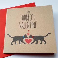 Black Cat Valentine Card  To my puurfect valentine by JayneyMac