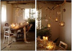 Lovely rustic lighting