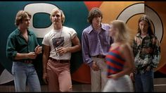 Dazed and Confused.  A favourite comedy based on the last day in a school in the seventies from the cool Richard Linklater.