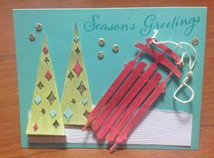 Stampin' Up! demonstrator Anna P's project showing a fun alternate use for the Watercolor Winter Simply Created Card Kit.