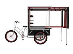 expandable bike cart: