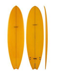Modern BlackFish Surfboard Orange GSI $555