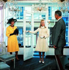 """Catherine Deneuve, Anne Vernon in """"Les parapluies de Cherbourg"""" (1964). Director: Jacques Demy."""