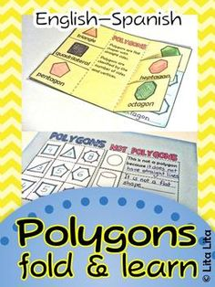 Polygons Fold and Learn English and Spanish