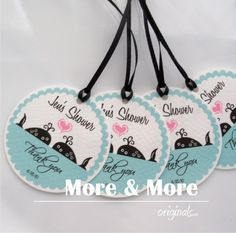 Check out this item in my Etsy shop https://www.etsy.com/listing/51127710/personalized-225inch-circle-tags-set-of