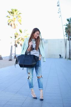 Studded & distressed in Barcelona