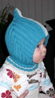 La Cagoule de lutin norvégien - Tante T: Trudes pixielue med hals Baby Hats Knitting, Knitting For Kids, Knitting For Beginners, Baby Knitting Patterns, Knitted Hats, Knit Crochet, Crochet Hats, Baby Barn, Baby Bonnets