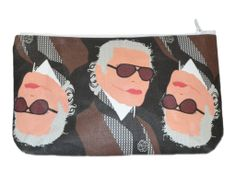 Team Karl. Shop the look at NYLONshop http://shop.nylonmag.com/collections/whats-new/products/karl-lagerfeld-make-up-purse