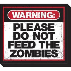 NMR Distribution Zombie Warning Magnet