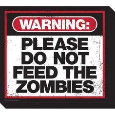 NMR Distribution Zombie Warning Magnet