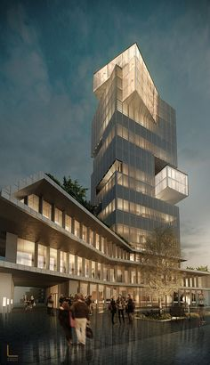 Mixed use building / LUMINA Architecture, Tirana