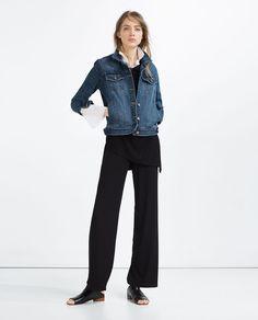 BASIC DENIM JACKET-Jackets-OUTERWEAR-WOMAN | ZARA United States