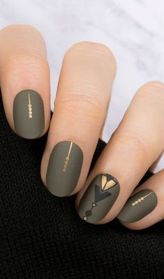 Best Winter Nail Art Ideas 2019 & Page 51 of 63 Nägel; The post Beste Winter Nail Art Ideen 2019 & Seite 51 von 63 & Дизайн ногтей appeared first on Nail designs . Fall Nail Art Designs, Cool Nail Designs, Acrylic Nail Designs, Acrylic Nails, Coffin Nails, Matte Nail Art, Gray Nail Art, Matte Gel Nails, Matte Nail Colors