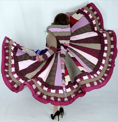 Self Rescuing Princess  Upcycled Sweater Coat by EnlightenedPlatypus, $488.00