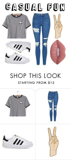 """""""Casual Fun"""" by majestic-flame on Polyvore featuring WithChic, Topshop, adidas, Lucky Brand and Lime Crime"""