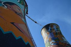 Colorful Orlando Towers in Johannesburg, South Africa Towers, Orlando, South Africa, Travel Inspiration, Tourism, African, Colorful, Turismo, Orlando Florida