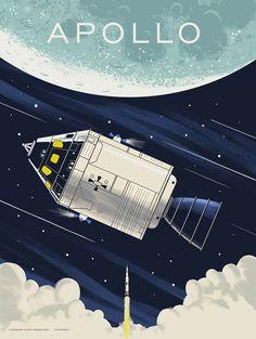 Universe Astronomy Apollo NASA Mission Poster — Familytree - by Alex Pearson Nasa Missions, Apollo Missions, Moon Missions, Programme Apollo, Desenho Pop Art, Apollo Space Program, Space Illustration, Vintage Space, Space Race
