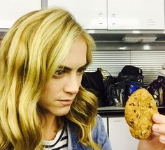 """""""Found this scene in makeup room: Emily Wickersham turned into #11 from a J Way Bakery."""" ~ Jennifer Esposito"""