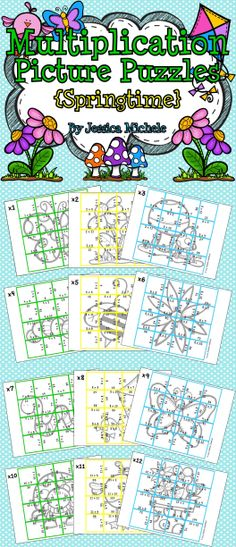 Multiplication Picture Puzzles are a great way for your students to develop multiplication fluency with products up to 144!    12 puzzles are included in this set with each one focusing on a factor from x1 to x12. SPRING $