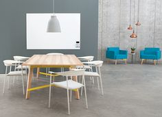 modern ash conference table - Google Search
