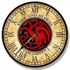 Rustic Wall Clocks, Wood Clocks, Clock Games, Wall Clock Silent, Living Room Clocks, Quartz Clock Movements, Game Of Thrones Fans, Clock Decor, Large Clock
