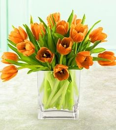 Orange Tulips with Free Vase Flowers For You, Orange Flowers, Red Roses, Orange Wedding Themes, Table Place Settings, Modern Flower Arrangements, Wedding Centerpieces, Centrepieces, Bouquet