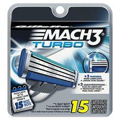 The #Gillette MACH3 Turbo razor blades provide a closer shave (vs. Sensor2 Disposable) and up to 100% redness-free. The razor blades are nano-thin and individual...