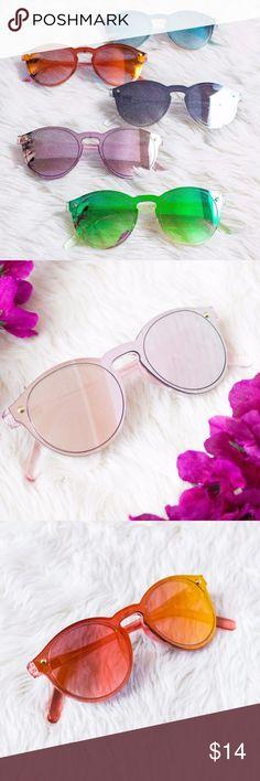 Retro Mirrored Sunglasses Cateye Boho Rose Gold - Retro Mirrored Sunglasses - Green & Red Have Color Changing Lenses - They Are All New And Unworn Ooh La Lou Accessories Sunglasses