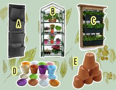 Vertical gardens are an alternative for gardeners who don't have a lot of horizontal space, want to cover an unattractive wall, or just want something different. Here are some items that you can use. www.theteelieblog.com #TeelieBlog