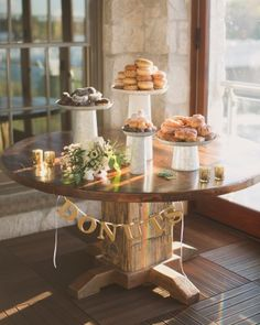 Scrumptious wedding dessert option: a decked-out donut bar