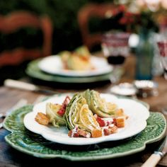 This salad from Thomas Keller's family-style restaurant, Ad Hoc, in Yountville, California, is a twist on the quintessential American combination of i...
