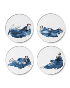 Shop Indigo Girl Side Plates, Set 4 from Carrol Boyes at Horchow, where you'll find new lower shipping on hundreds of home furnishings and gifts. Side Plates, Plate Sets, Bone China, Decor Styles, Indigo, Decorative Plates, Absolutely Gorgeous, Fun, Gifts