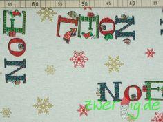 Weiteres - Dekostoff NOEL - Weihnachtsstoff - ein Designerstück von zwergigDE…