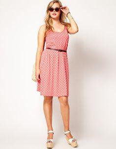 Plus Size Dress In Spot Print - $41.43 | Asos Curve [Plus Size Clothing]