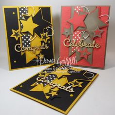 card star stars fishtail banners - Congrats Card using the Star Framelits & Be The Star stamp set video Boy Cards, Cute Cards, Stampin Up, Star Cards, Retirement Cards, Cricut Cards, Stamping Up Cards, Congratulations Card, Greeting Cards Handmade