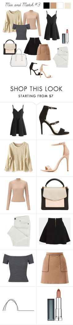 """""""Mix and Match #3"""" by ruby-valentine ❤ liked on Polyvore featuring Chicwish, Miss Selfridge, Charlotte Russe, MANGO, Parker, French Connection and Maybelline"""