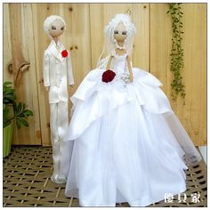 Bride And Groom Cloth Doll Images Lover Handmade Fabric Wedding Car
