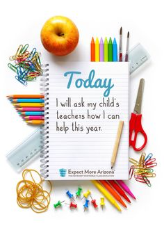 As we begin a new school year, show your appreciation by asking your child's teachers how you can be more involved. You'll probably find out you enjoy helping out more too!  Find more ways to support teachers and students at http://TodayInAZ.org #TodayInAZ