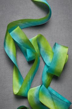 pretty silk ribbon - hand dyed is so calming