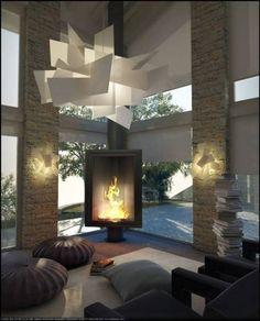 Sala de estar translation missing: pt.style.sala-de-estar.moderno por FAPIR srl