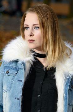 Denim jacket with fur. Love it
