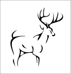 Deer tattoo design I drew in illustrator
