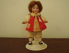 Antique Doll Kestner All Bisque Miniature w/Factory by bigbangzero, $150.00