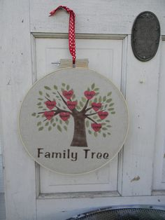 Tutorial: 20 North Ora: Family Tree - What a cute and unique way to create your own family tree. A good Christmas gift or do in Autumn colors and use leaves for Thanksgiving. Create A Family Tree, Great Christmas Presents, General Crafts, Create Your Own, Decorative Plates, Frame, Projects, Thanksgiving, Leaves